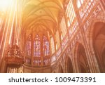 Small photo of PRAGUE, CZECH REPUBLIC - MAY 17, 2017: St Vitus Cathedral interior in the old town of Prague.