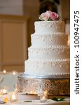 a multi level white wedding... | Shutterstock . vector #100947475