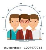 group of milennials generation...   Shutterstock .eps vector #1009477765