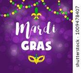 mardi gras carnival party...   Shutterstock .eps vector #1009478407