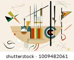 abstract  beige background ... | Shutterstock .eps vector #1009482061