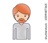 half body man with short hair... | Shutterstock .eps vector #1009487365