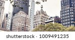 downtown manhattan skyscrapers. | Shutterstock . vector #1009491235