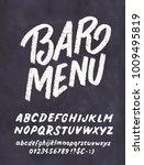 bar menu template. chalkboard...   Shutterstock .eps vector #1009495819