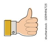 hand thumb up icon in... | Shutterstock .eps vector #1009496725