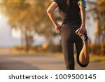young asian women walking on a... | Shutterstock . vector #1009500145