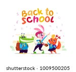 vector flat collection of happy ...   Shutterstock .eps vector #1009500205