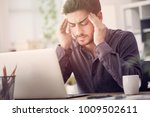 working tired man in front of... | Shutterstock . vector #1009502611