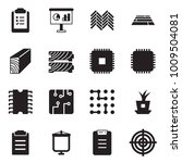 solid black vector icon set  ... | Shutterstock .eps vector #1009504081