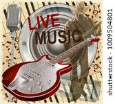 vintage poster live music with... | Shutterstock .eps vector #1009504801