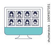 people gallery picture profiles ... | Shutterstock .eps vector #1009507351