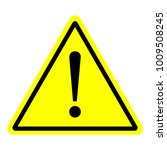 warning sign with pure yellow... | Shutterstock .eps vector #1009508245