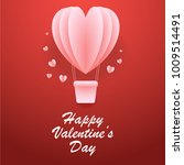 valentine's day greeting card | Shutterstock .eps vector #1009514491
