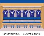 soccer dressing rooms team.... | Shutterstock .eps vector #1009515541