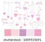 love scrapbook design elements. ... | Shutterstock .eps vector #1009515691