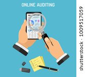 online auditing  tax ... | Shutterstock .eps vector #1009517059