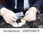 demo station of eye operation | Shutterstock . vector #1009518079