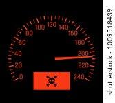 vector car speedometer dial... | Shutterstock .eps vector #1009518439