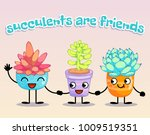 succulents are friends on...   Shutterstock .eps vector #1009519351