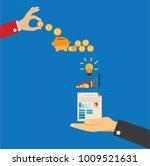 save money concept  piggy save... | Shutterstock .eps vector #1009521631