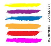 set of hand painted colorful... | Shutterstock .eps vector #1009527184