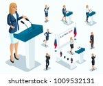 isometry is a woman president ... | Shutterstock .eps vector #1009532131