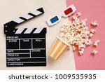 flat lay of cinema movie items  ... | Shutterstock . vector #1009535935