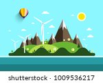 flat design landscape. island... | Shutterstock .eps vector #1009536217