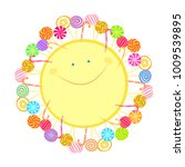 isolated image of a cheery... | Shutterstock .eps vector #1009539895