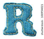 Denim Letter. Jeans Alphabet R.
