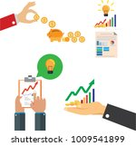 save money concept  graphic on... | Shutterstock .eps vector #1009541899