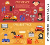 car service and assistance... | Shutterstock . vector #1009542721