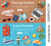 planning luxury vacation and... | Shutterstock . vector #1009542739