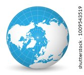earth globe with green world... | Shutterstock .eps vector #1009543519