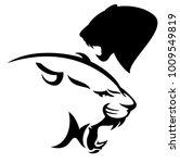 roaring cougar vector design  ... | Shutterstock .eps vector #1009549819