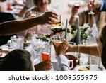 celebration on wedding or event ... | Shutterstock . vector #1009555975