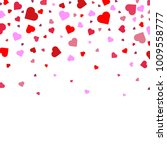 background with heart confetti... | Shutterstock .eps vector #1009558777