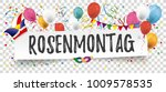 german text rosenmontag ... | Shutterstock .eps vector #1009578535