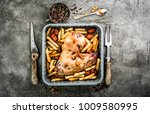 homemade turkey wing with... | Shutterstock . vector #1009580995