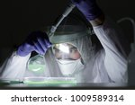 life scientist researching in... | Shutterstock . vector #1009589314