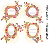 Vector Set Of Four Hand Writte...
