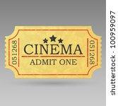 Vintage Admit One Ticket....