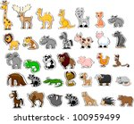large set of animals | Shutterstock .eps vector #100959499