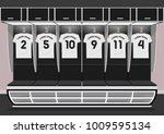 soccer dressing rooms team.... | Shutterstock .eps vector #1009595134