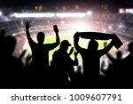 friends at football game in... | Shutterstock . vector #1009607791