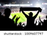 crowd and fans in football... | Shutterstock . vector #1009607797