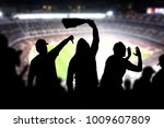 football hooligans in game.... | Shutterstock . vector #1009607809