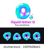 o letter is an aqua logo.... | Shutterstock .eps vector #1009608661