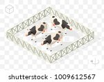 set of isolated isometric... | Shutterstock .eps vector #1009612567