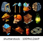 Isometric Mining Game Elemens...